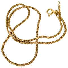 Victorian 9 Carat Gold Rope Twist Link Necklace