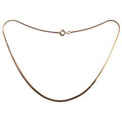 Victorian 9 Carat Gold Snake Link Necklace