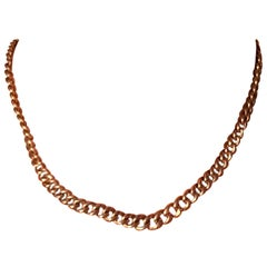 Victorian 9 Carat Rose Gold Albert Chain or Necklace