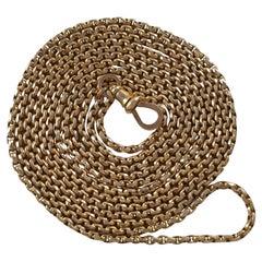 Victorian 9ct Yellow Gold Diamond Cut Belcher Guard Chain