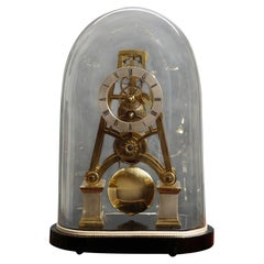 Victorian 'A' framed Skeleton Clock
