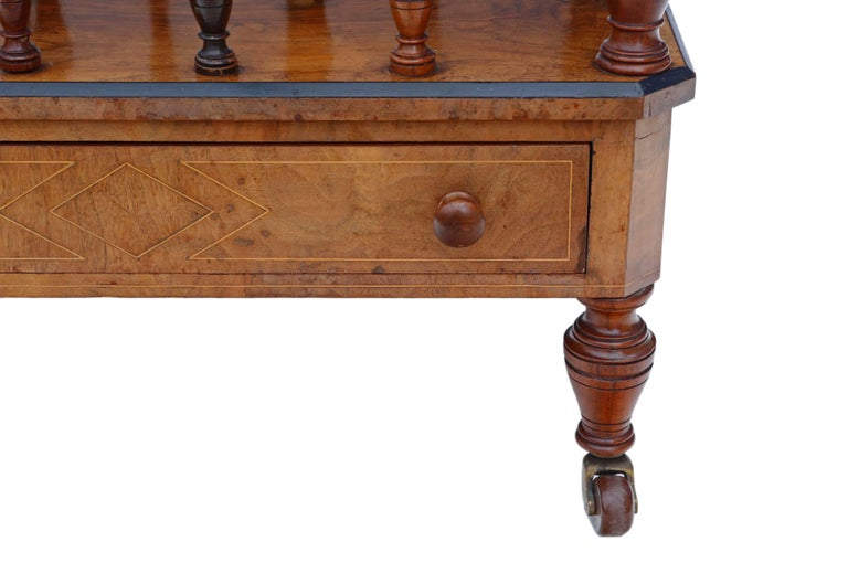 Victorian Aesthetic Burr Walnut Canterbury Whatnot For Sale 1
