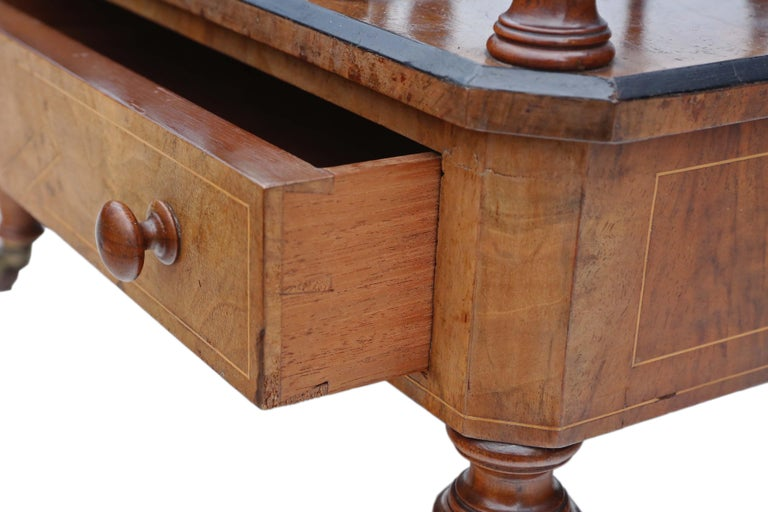 Victorian Aesthetic Burr Walnut Canterbury Whatnot For Sale 2