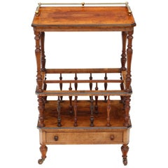 Victorian Aesthetic Burr Walnut Canterbury Whatnot