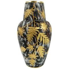 Victorian Aesthetic Movement Bohemian Art Glass Vase
