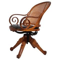 Victorian Aesthetic Movement Swivel Desk Office Chair Att. to Charles Eastlake