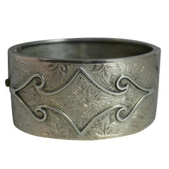 Victorian Aesthetic Period Silver Bangle