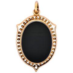 Victorian Agate 14 Karat Gold Locket Pendant