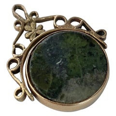 Victorian Agate and 9 Carat Gold Swivel Fob