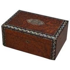 Victorian Amboyna Jewellery Box