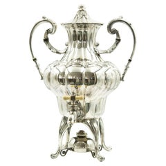 Victorian American Silver Plate Standing Coffee Urn