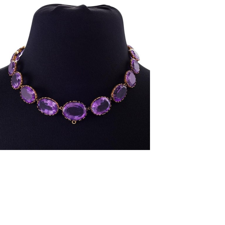Victorian Amethyst and Gold Parure In Excellent Condition For Sale In New York, NY