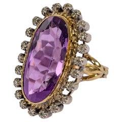 Victorian Amethyst & Diamond Ring 11 Carats