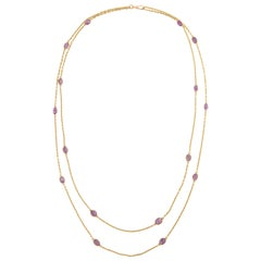 Victorian Amethyst Gold Necklace, Late 19th Century