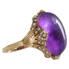 Victorian Amethyst Ring for Divination, Scrying, Soothsaying or Just Fashion