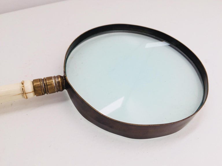 Victorian Anglo Indian Magnifying Glass with Horn Carved and Twisted Handle For Sale 13