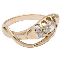 Victorian Antique Diamond Smiling Serpent Ring