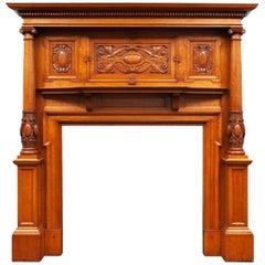 Victorian Antique Oak Fireplace