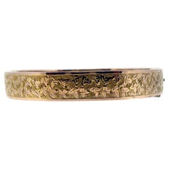 Victorian Antique Rose Gold Bangle, Hallmarked Chester, 1876