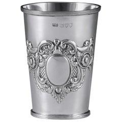 Victorian Antique Sterling Silver Beaker by Mappin & Webb, London, 1896
