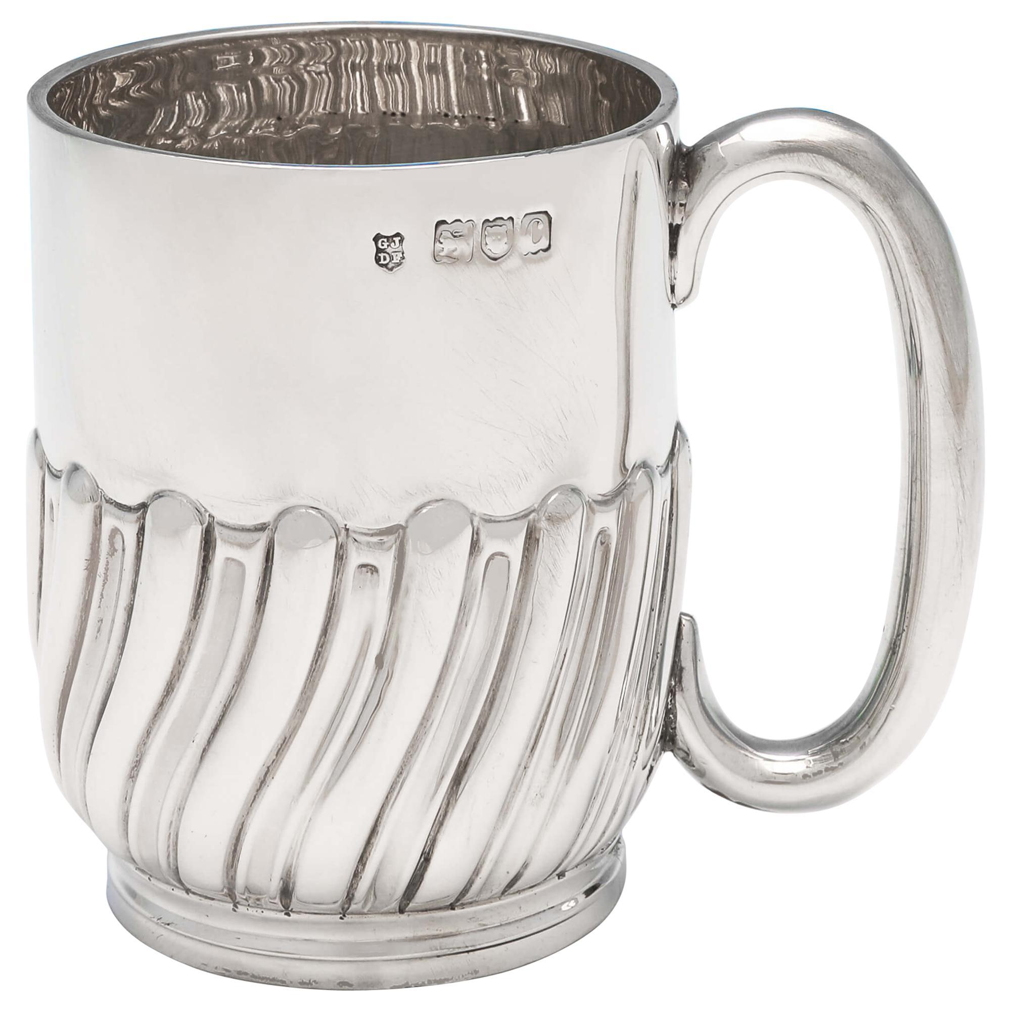 Victorian Antique Sterling Silver Christening Mug by Jackson & Fullerton, 1898