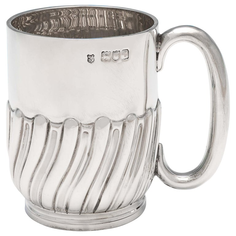 Victorian Antique Sterling Silver Christening Mug by Jackson & Fullerton, 1898 For Sale