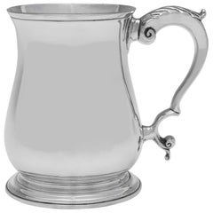 Victorian Antique Sterling Silver Mug by Aldwinckle & Slater, London, 1882