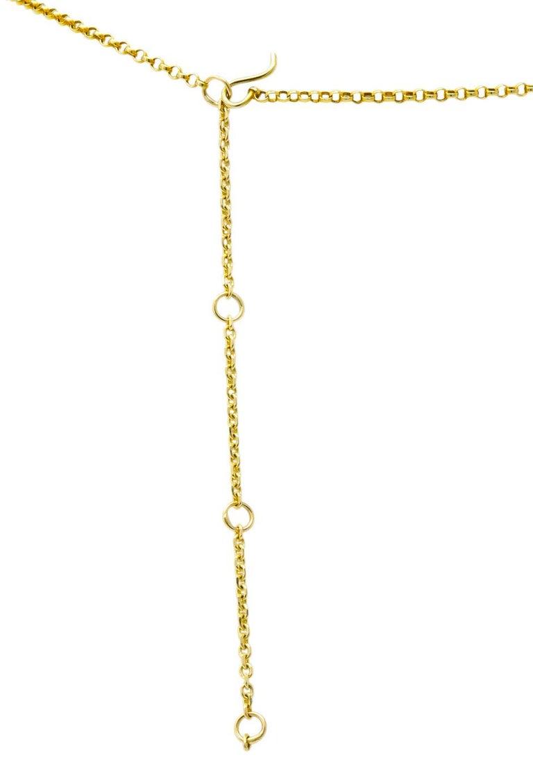 Victorian Aquamarine Amethyst 12 Karat Gold Fringe Necklace For Sale 4