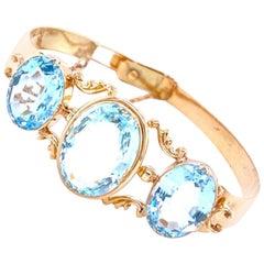 Victorian Aquamarine Bracelet