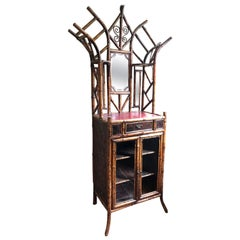 Victorian Bamboo and Japanned Lacquer Cabinet