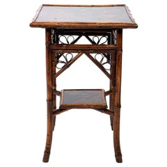 Victorian Bamboo Two-Tier Side Table