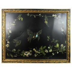 Victorian Birds and Flowers Metal Panel, circa 1890s