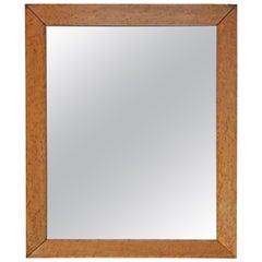 Victorian Bird's-Eye Maple Overmantle or Wall Mirror
