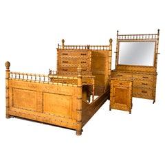 Victorian Bird's-Eye Maple Bedroom Set
