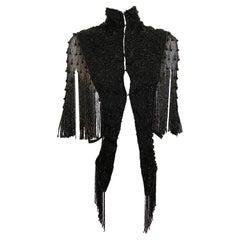 Victorian Black Beaded Vest Top
