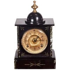 Victorian Black Marble Mantel Clock