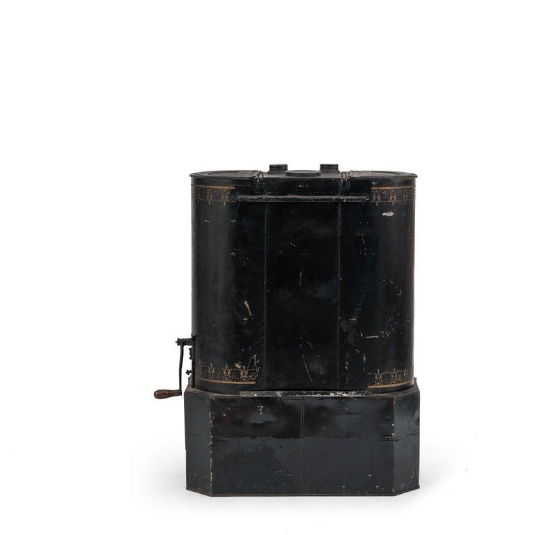 Victorian Black Tole Chuck Wagon Kitchen Cabinet For Sale ...