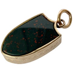 Victorian Bloodstone and Chalcedony 9 Carat Fob