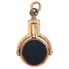 Victorian Bloodstone and Sardonyx 9 Carat Gold Locket Fob