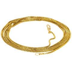 Victorian Box Link 9 Carat Gold Longuard Chain