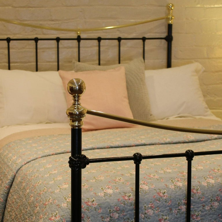Victorian Brass And Iron Bed In Black Md66 At 1stdibs