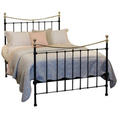 Victorian Brass and Iron Bed in Black, MD66