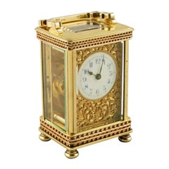 Victorian Brass Carriage Clock, 19th Century