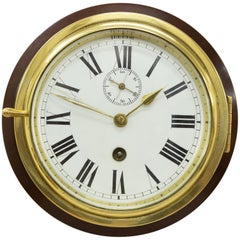 Victorian Brass Cased Ships Clock