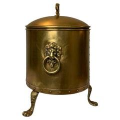 Victorian Brass Coal Hod Scuttle/Bucket