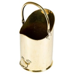Victorian Brass Coal or Log Bin