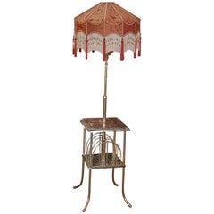 Victorian Brass Combination Standard Lamp