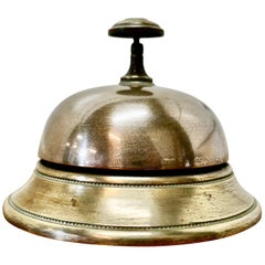 Victorian Brass Courtesy Counter Top Bell, Reception Desk Bell