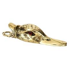 Victorian Brass Duck's Head Letter Clip
