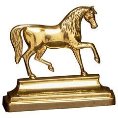 Victorian Brass Horse Doorstop